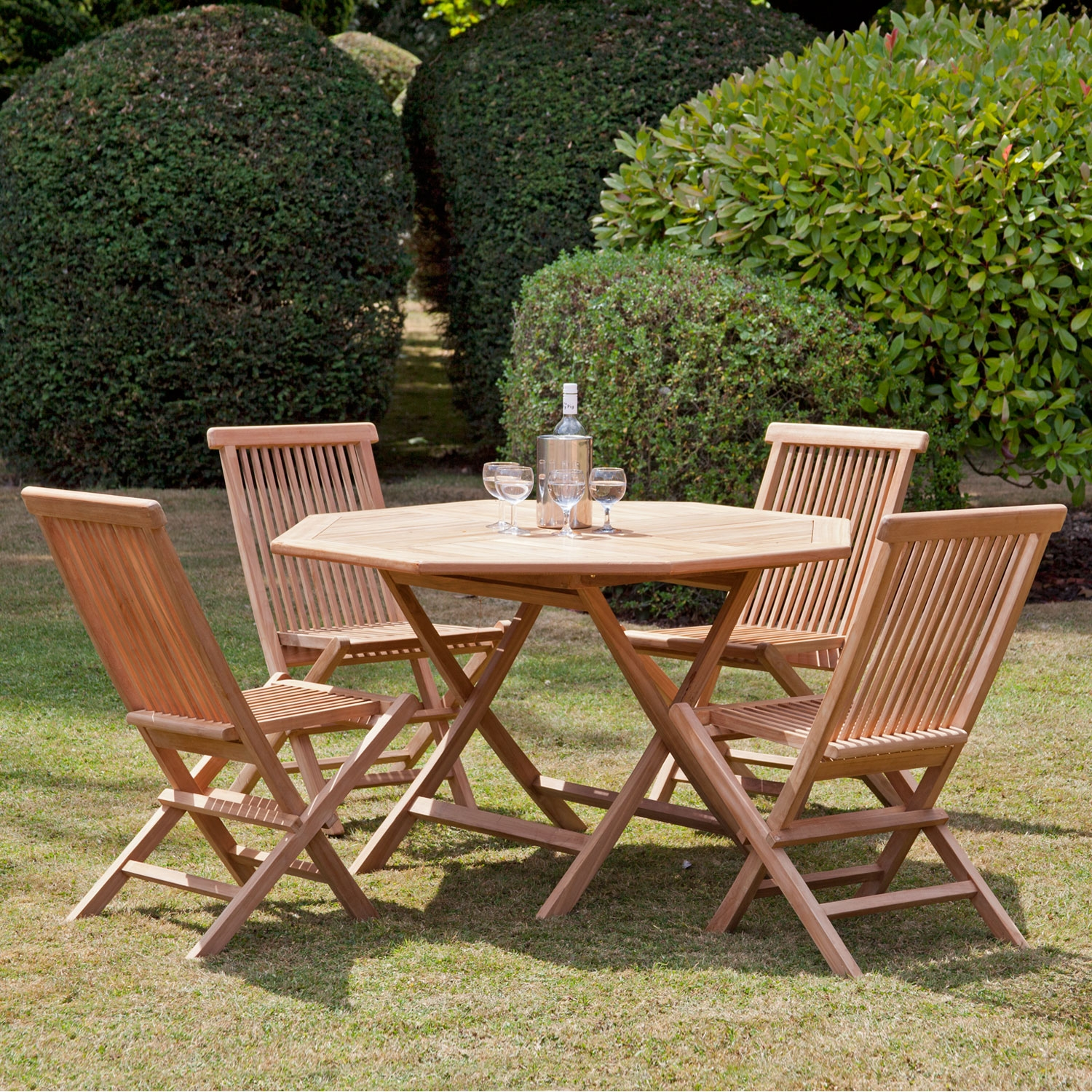 Image of Bali 4-Seat Octagonal Folding Dining Collection