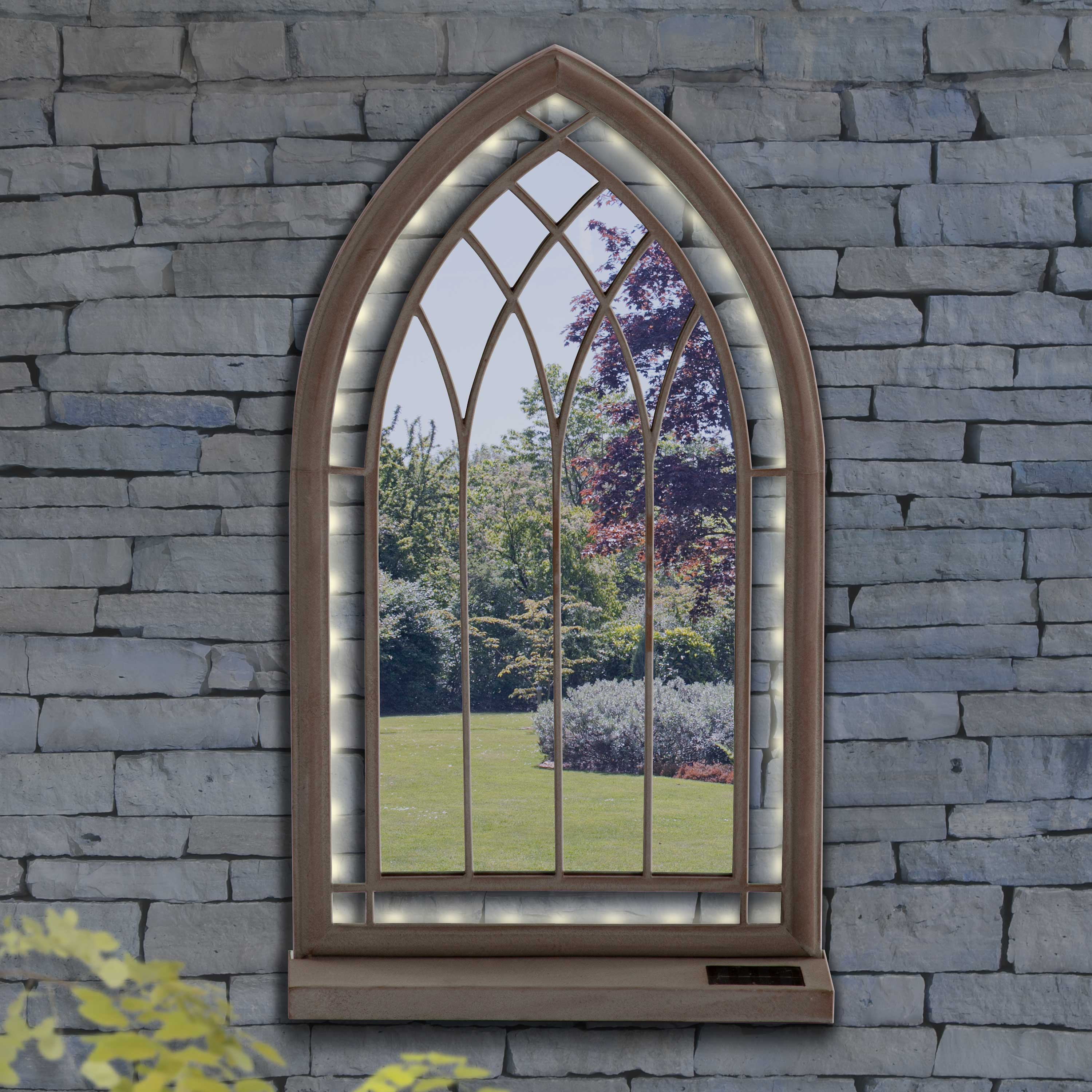 Suntime LED Church Style Arched Garden Mirror