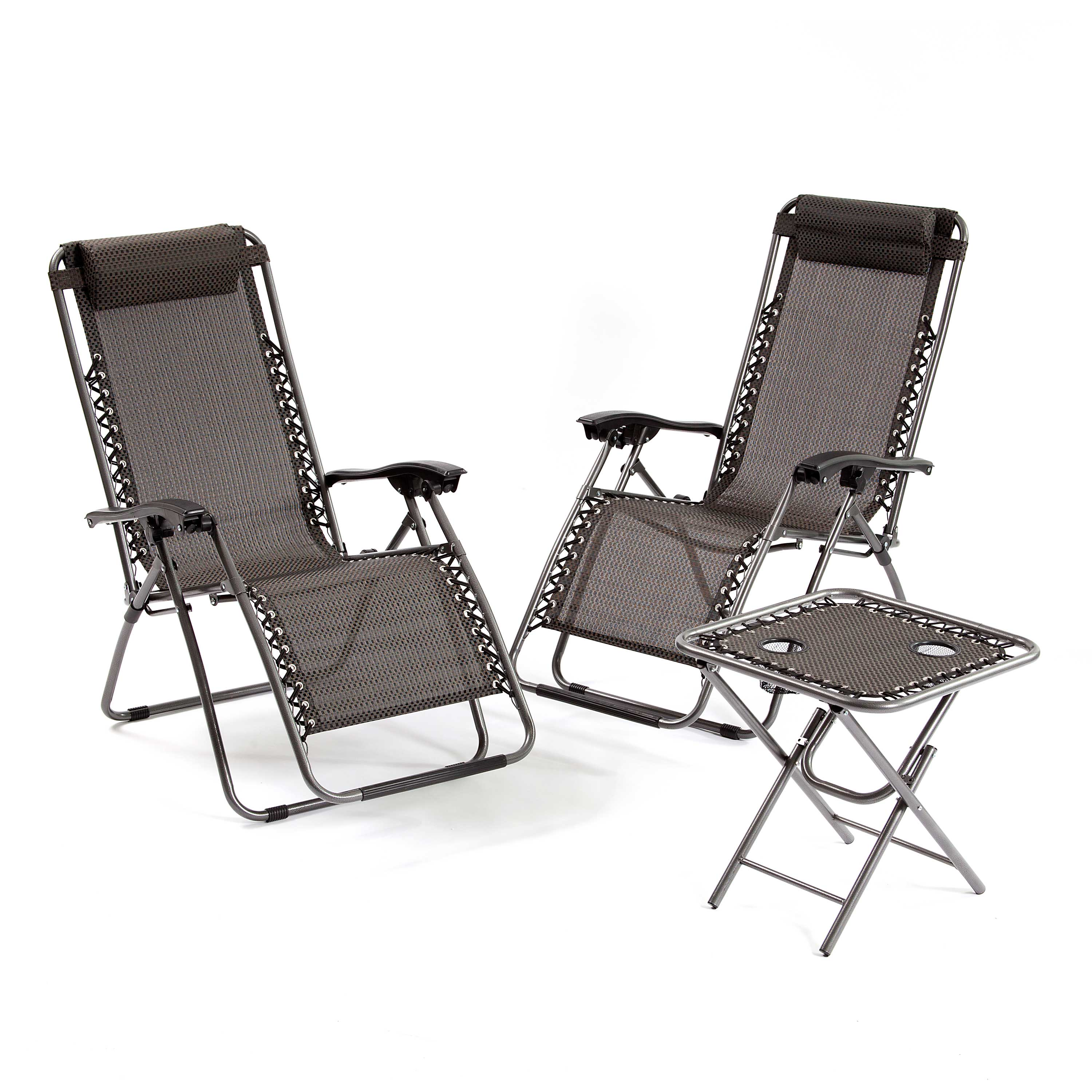 Suntime 3 Piece Zero Gravity Grey Garden Recliner Collection