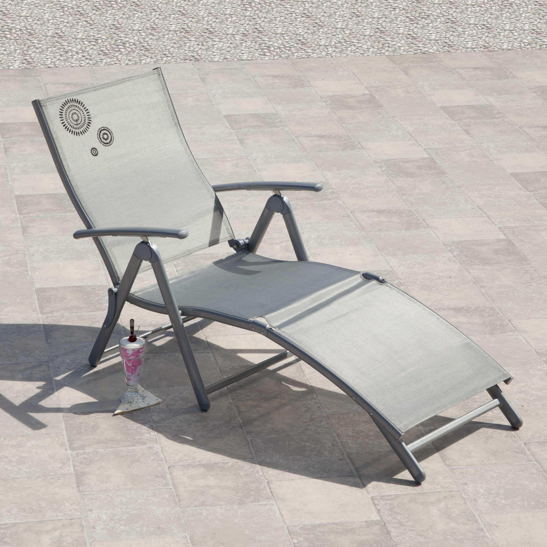 Suntime Havana Silver Fold Up Sun Lounger