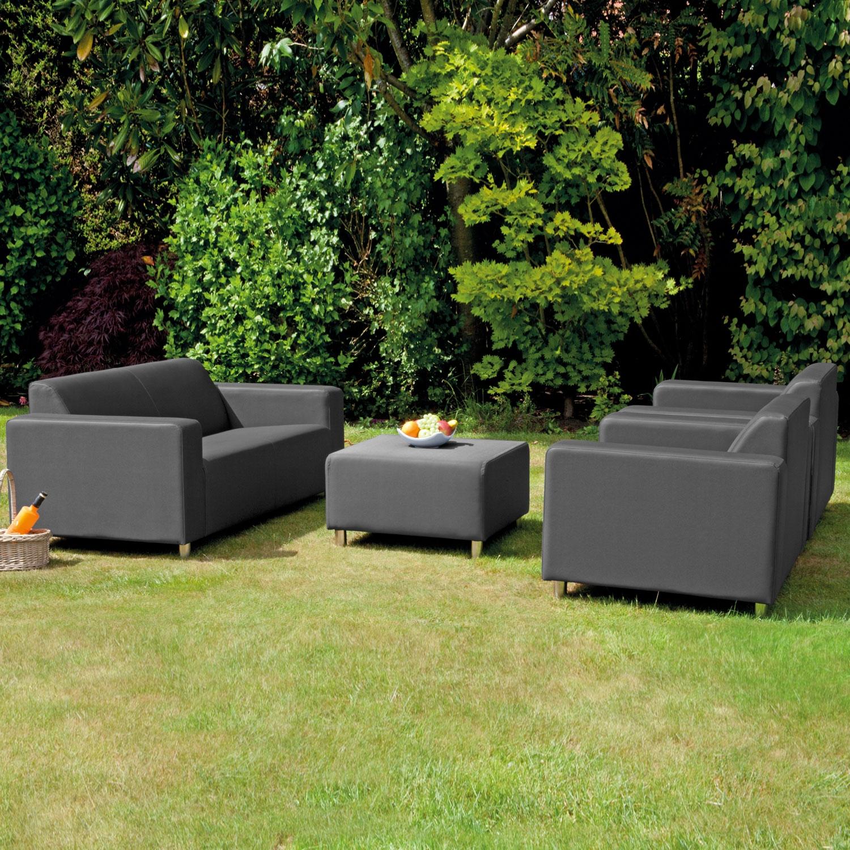 Tom 4 Piece Graphite Patio Sofa Set