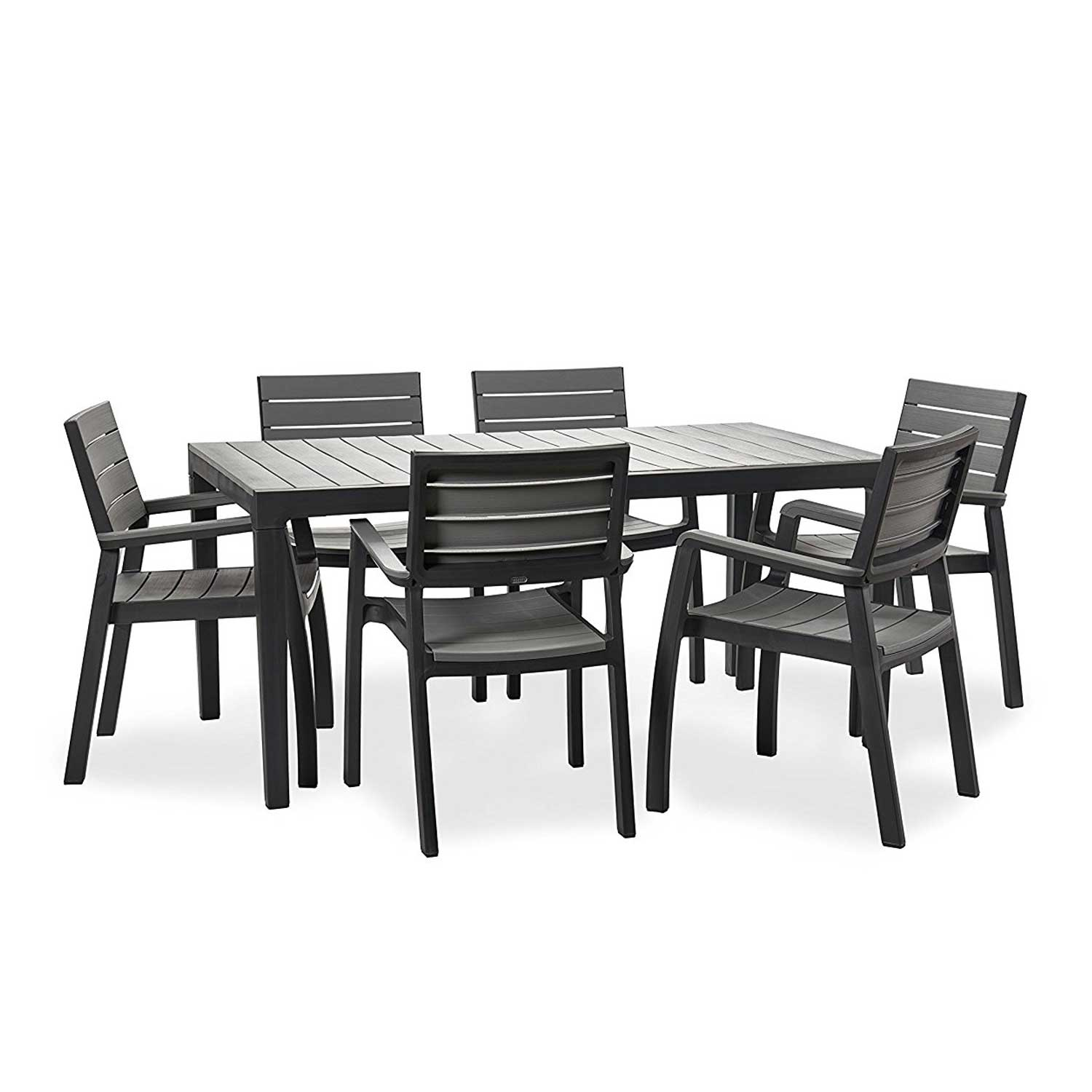 Keter Harmony Grey 6 Seat Dining Set