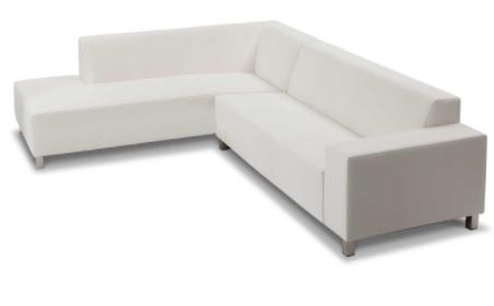 Marbella Sofa Collection White Right Arm Sitting