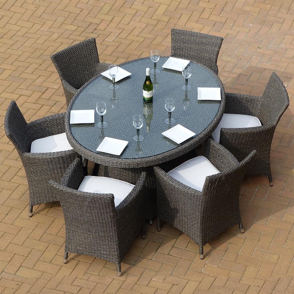Premium Rattan Mocha 6 Seat Dining Collection