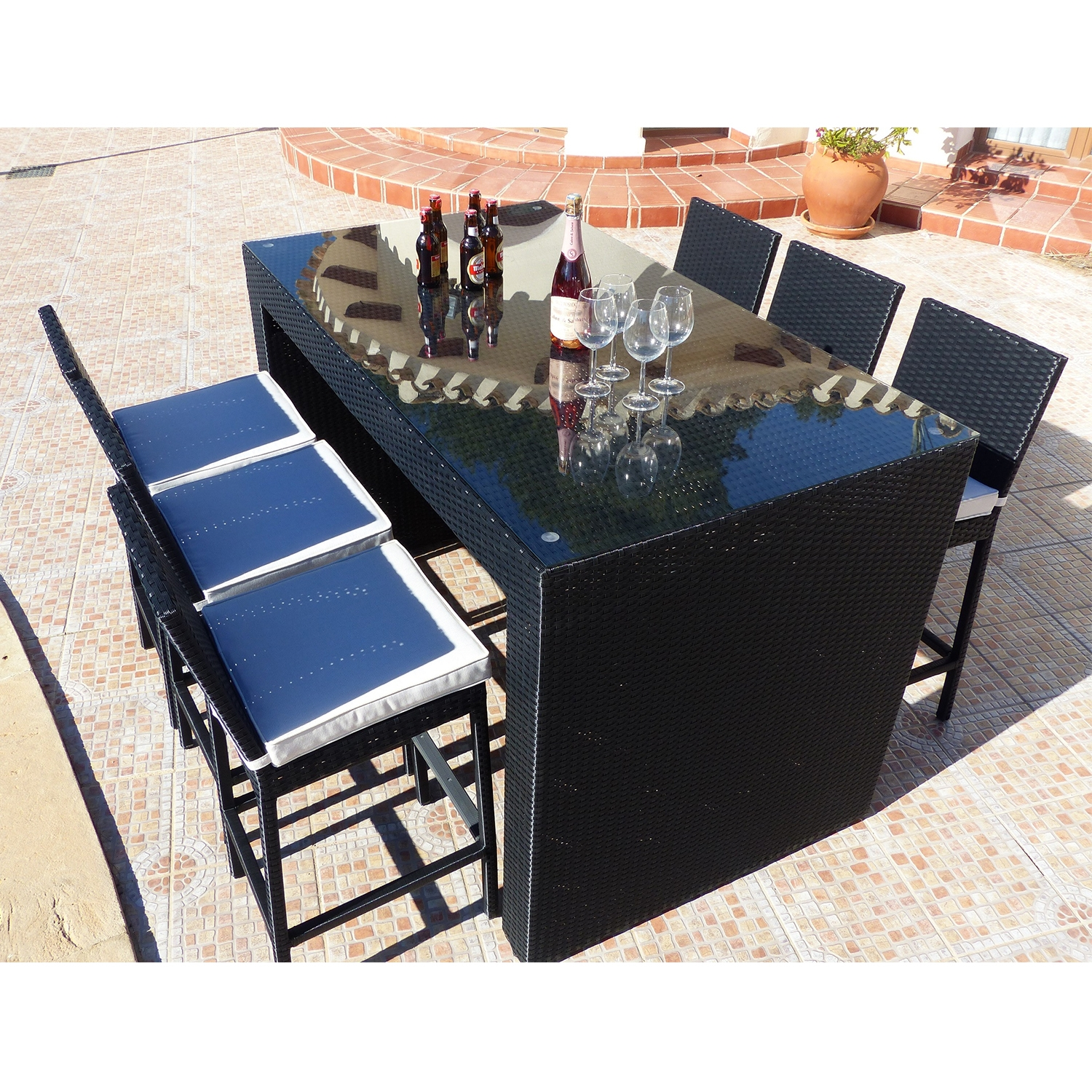 Premium Eros 6 Seat Black Bar Set