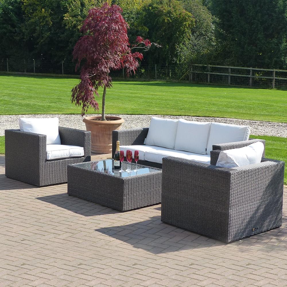 Premium Helios 3 Seat Mocha Rattan Sofa Collection