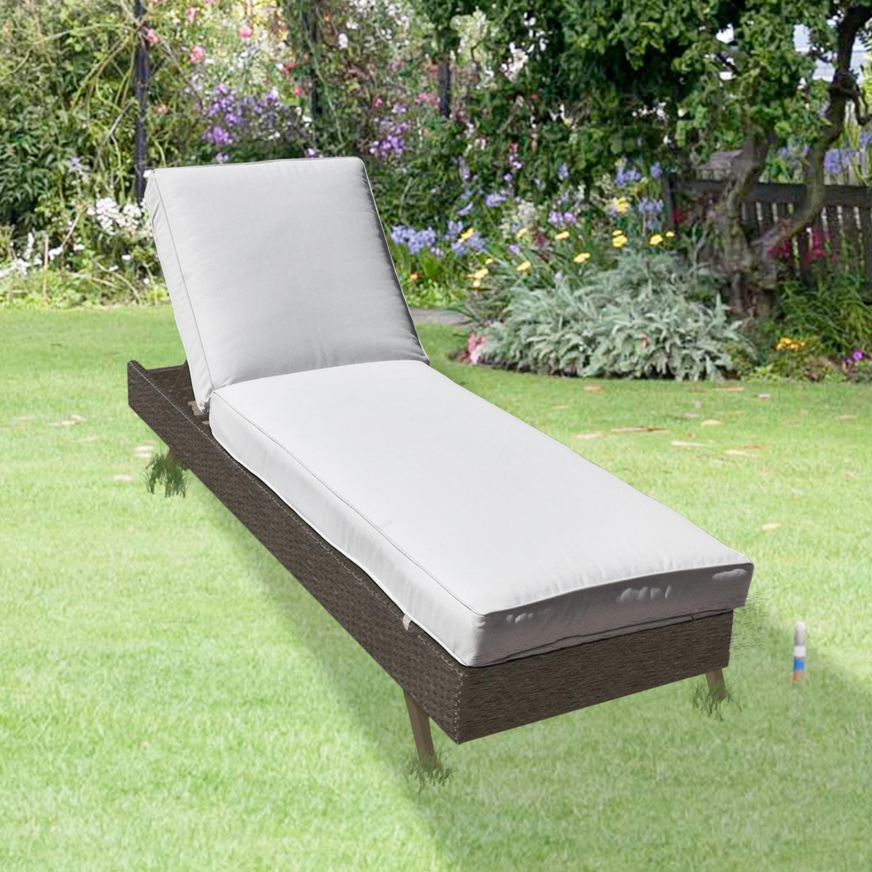Premium Aluminium Mocha Rattan Wicker Sun Lounger