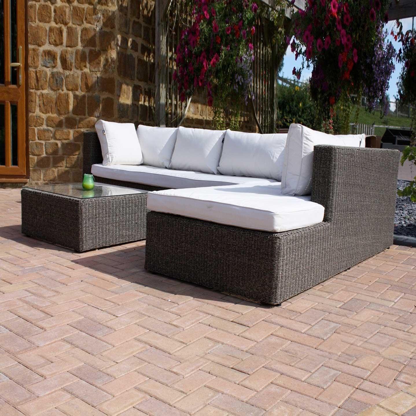 Premium Triton Rattan Sofa Set - Left Handed