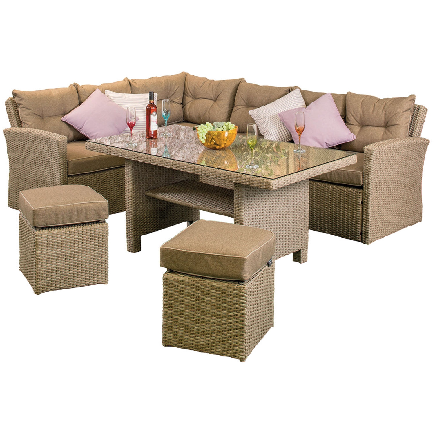Ashton Rattan Corner Sofa Set