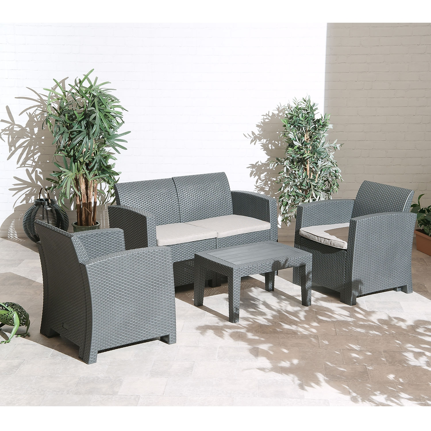 Florence Outdoor Garden Lounge Set With Seat Cushions