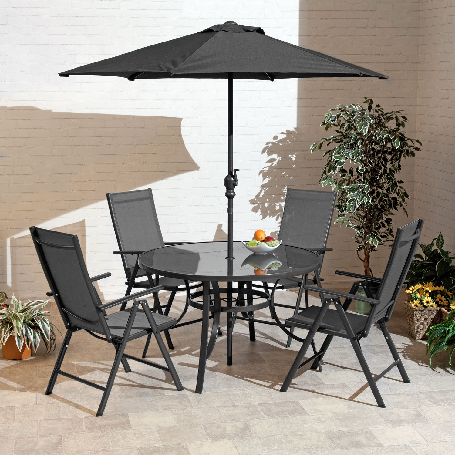 Image of 1.2m Santos Textelene 4 Seat Collection Charcoal