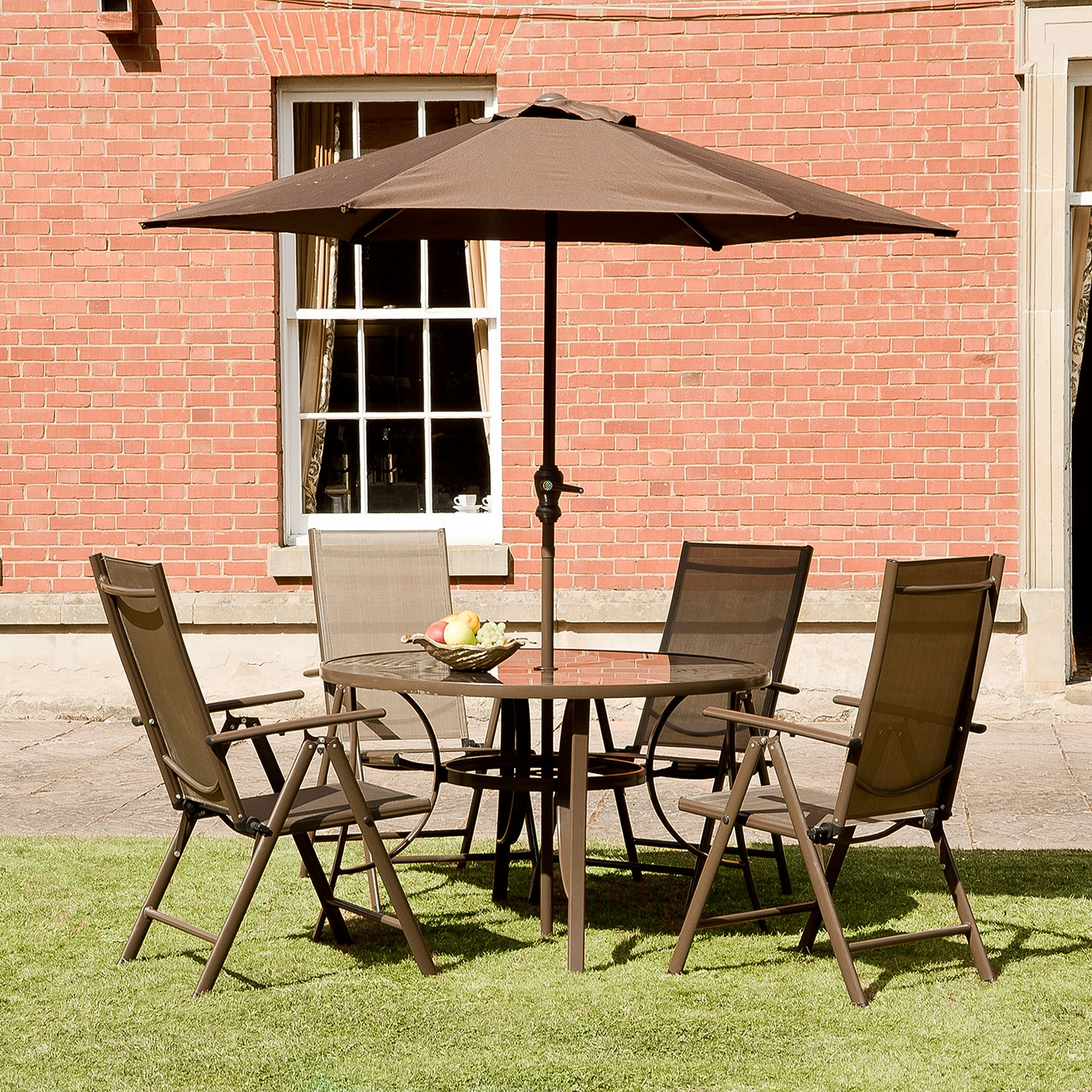 Image of 1.2m Santos Textelene 4 Seat Collection Round Copper Set