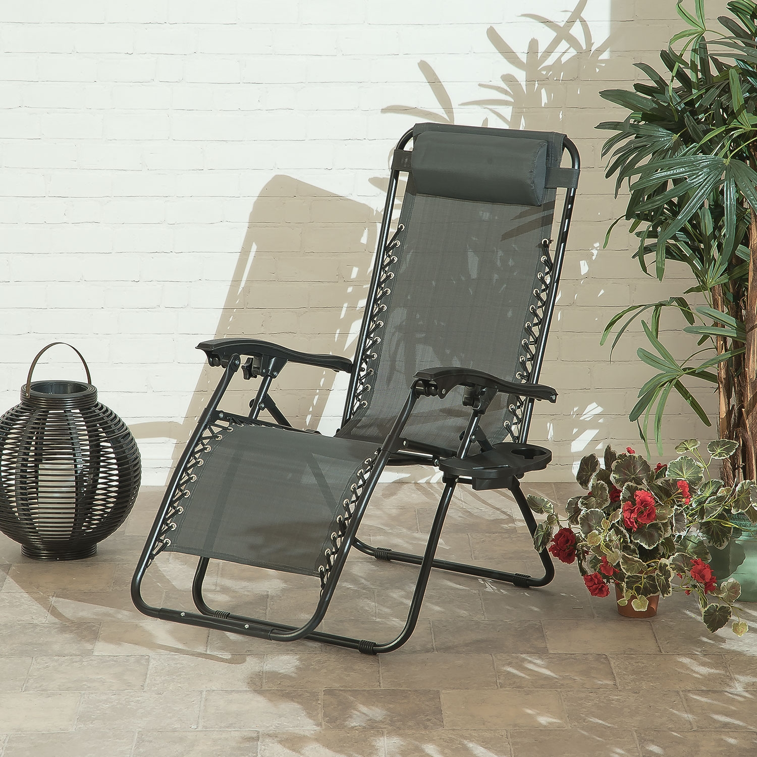 Image of Suntime Royale Zero Gravity Relaxer With Cup holder (Charcoal)