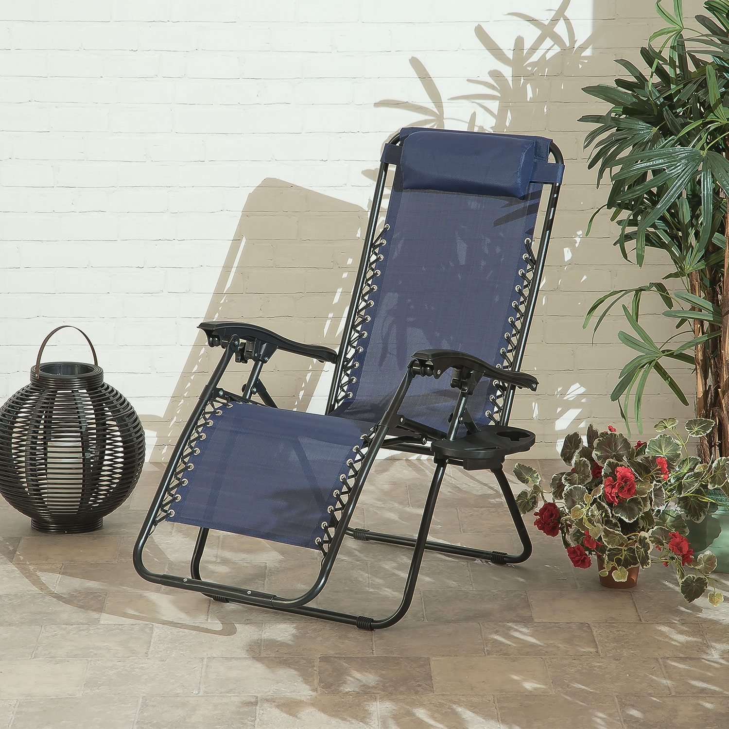 Image of Suntime Royale Zero Gravity Relaxer with Cup Holder (Blue)