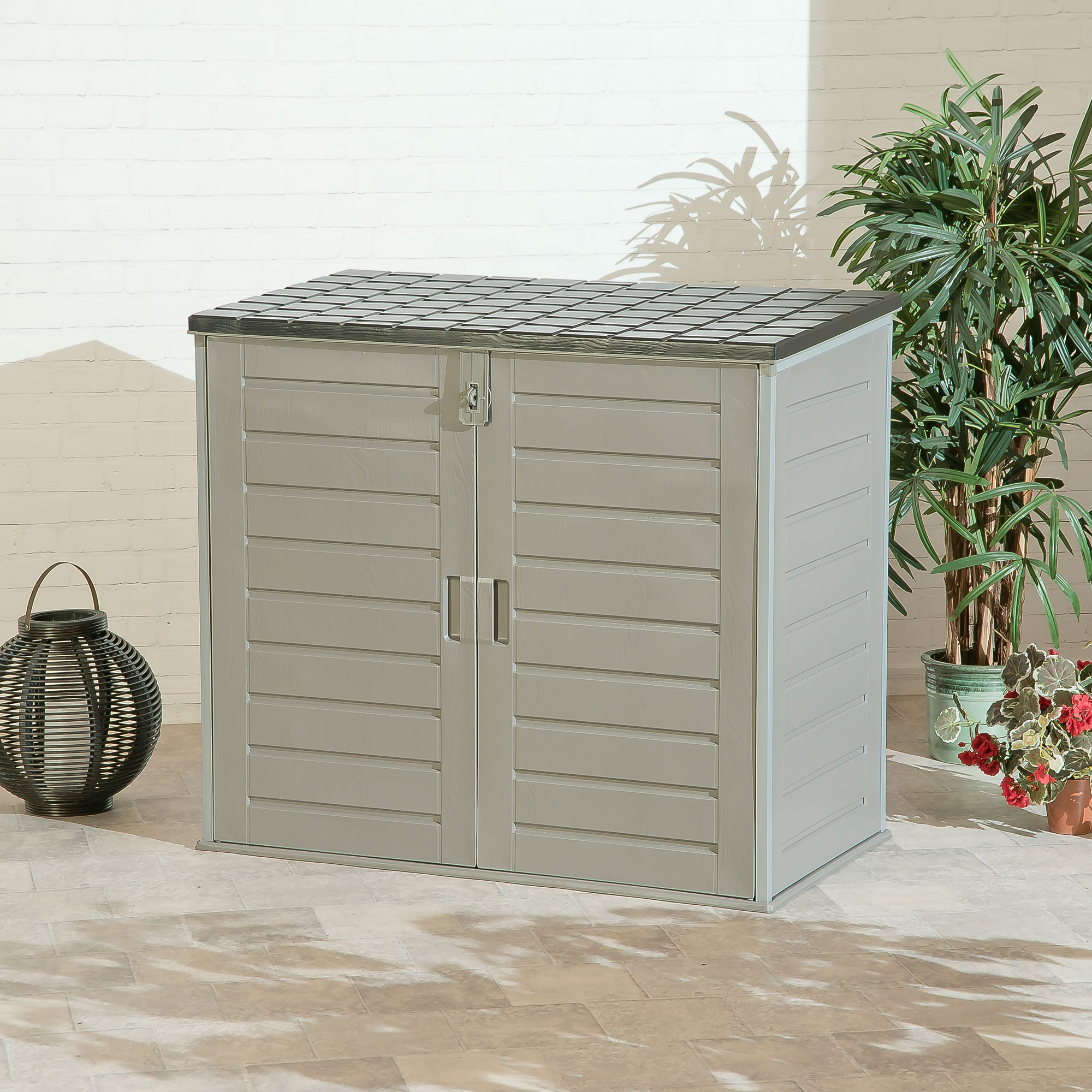 Garden Storage Cabinet With 2 Gas Lifts