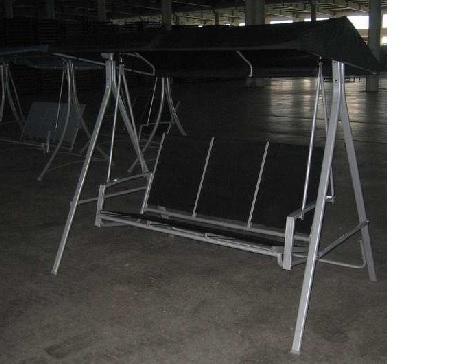 Rhodes Cushioned 3-Seat Steel Swing