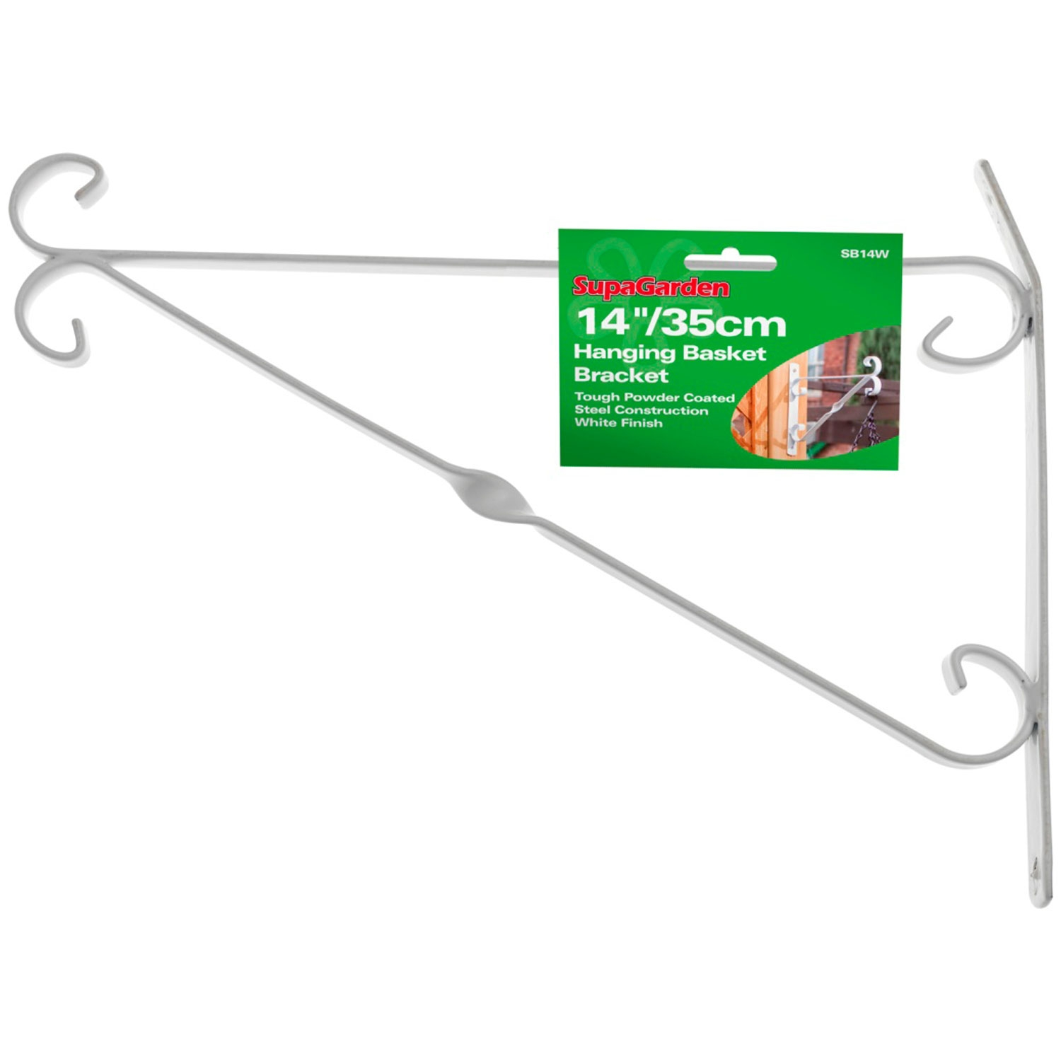 SupaGarden Hanging Basket Bracket 35cm/14