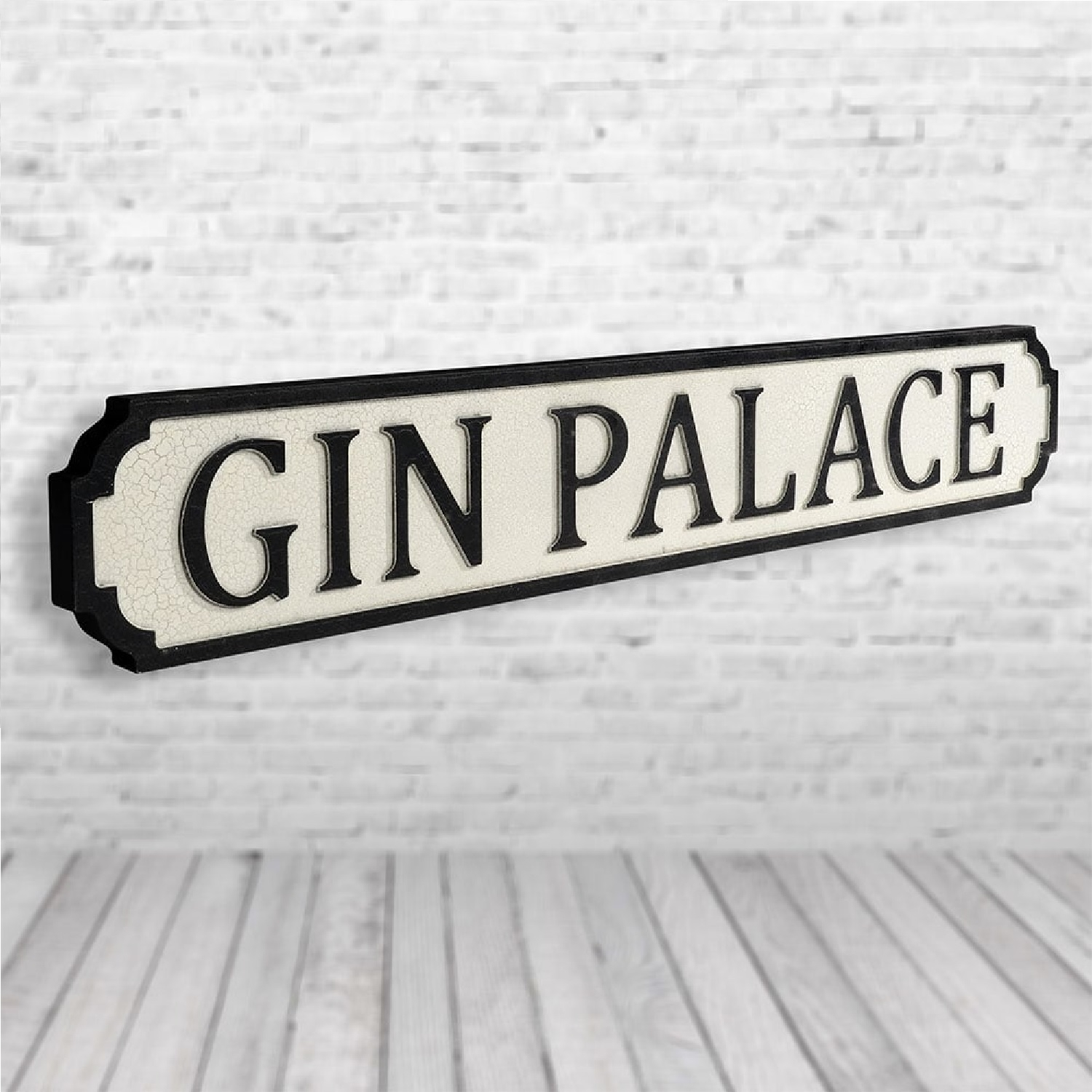 Image of Gin Palace Vintage Road Sign