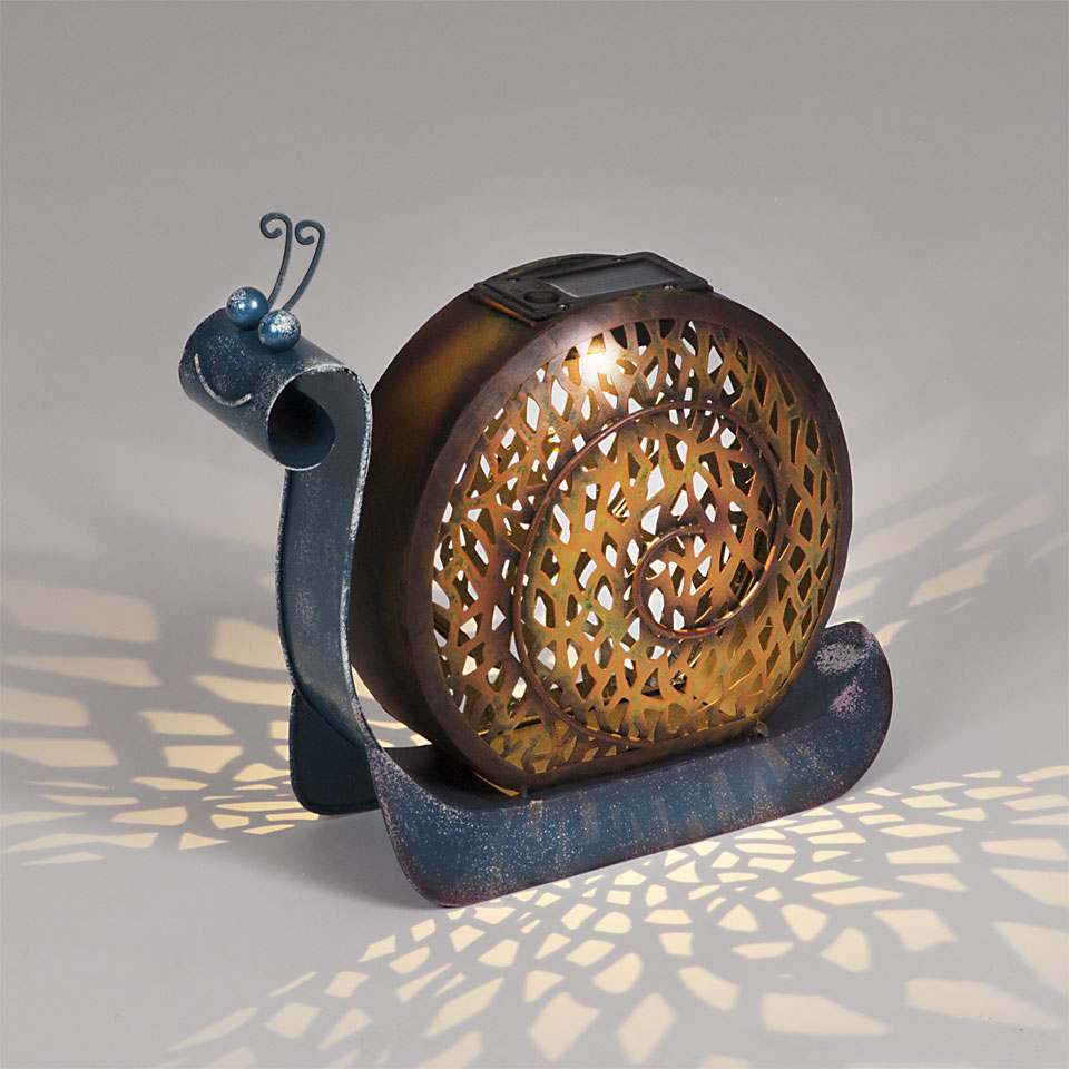 Garden Glows Solar Powered Snail Garden Light