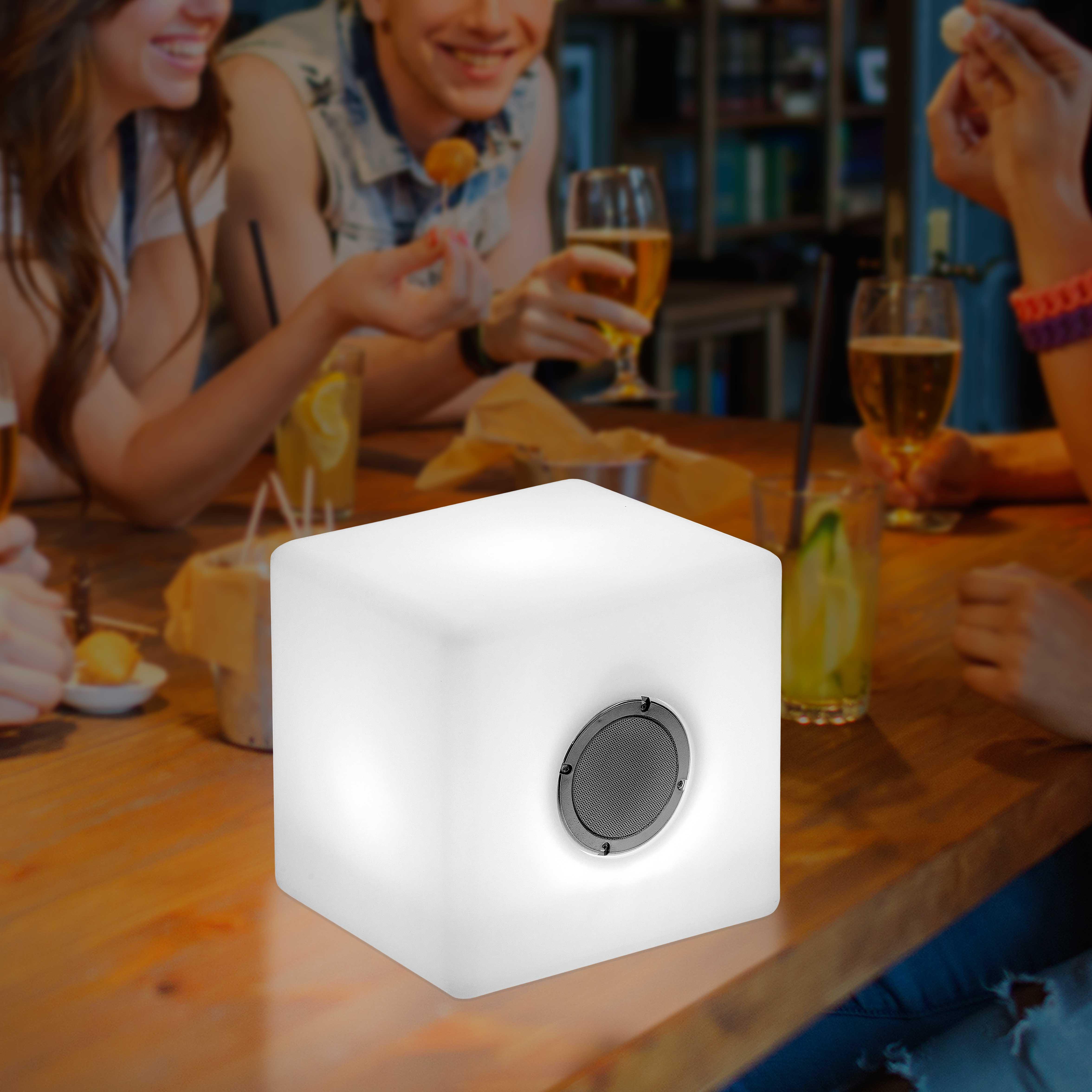 Wireless Illuminated Medium Bluetooth Speaker Cube