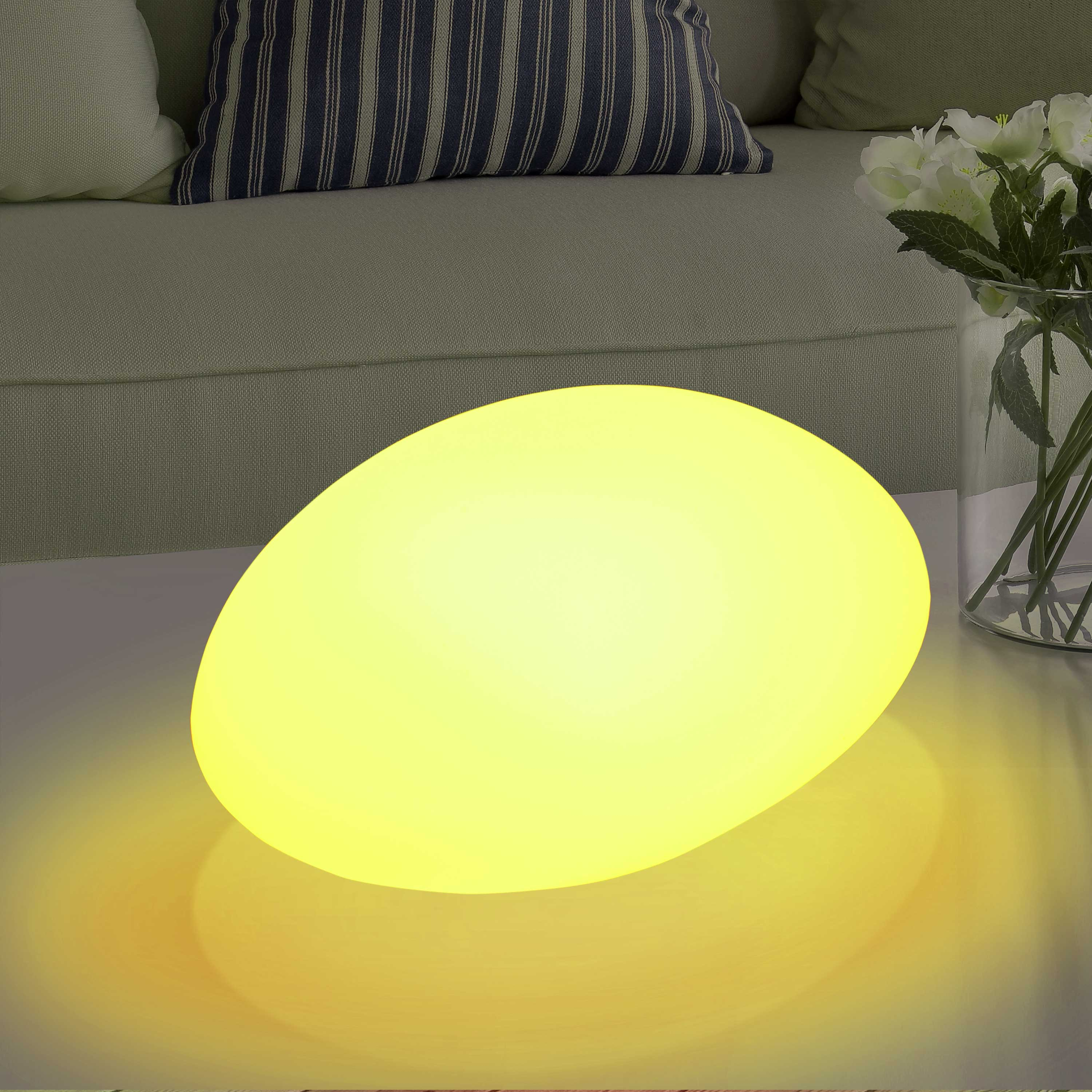Wirefree Rechargeable LED Stone Element Light
