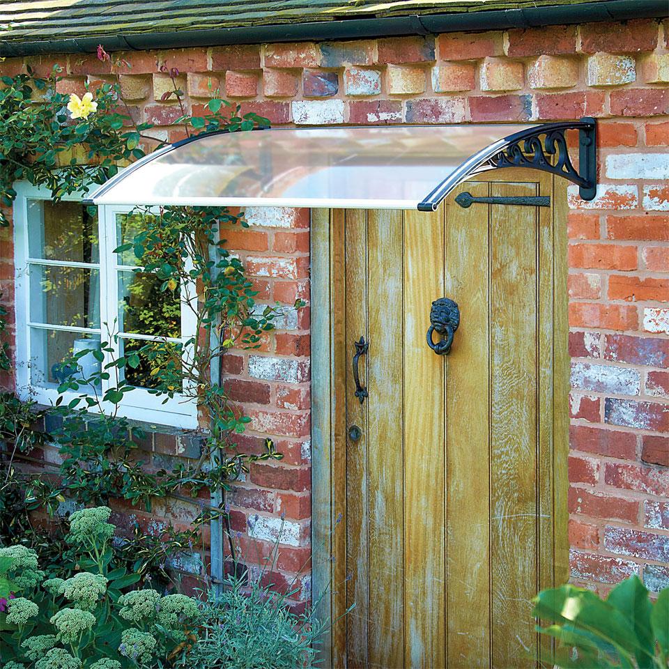 Easy Fit Black Door Canopy