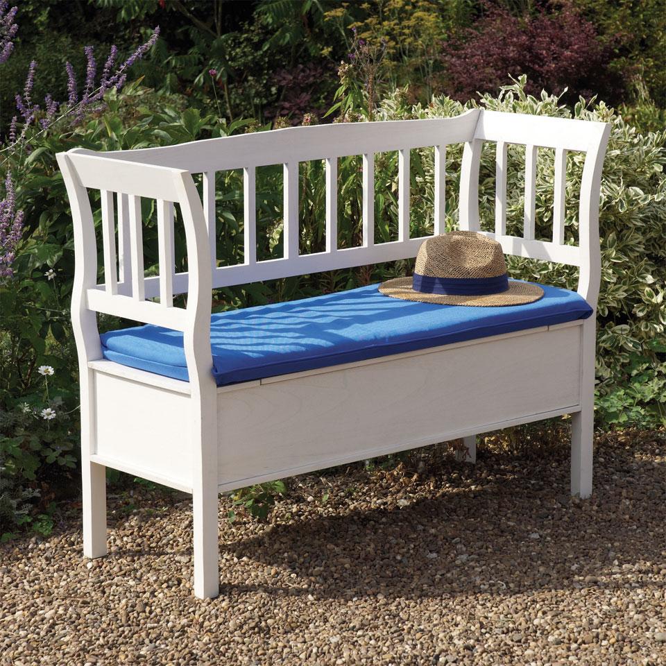 Marlow Indoor & Outdoor Hardwood 2 Seat Storage Bench