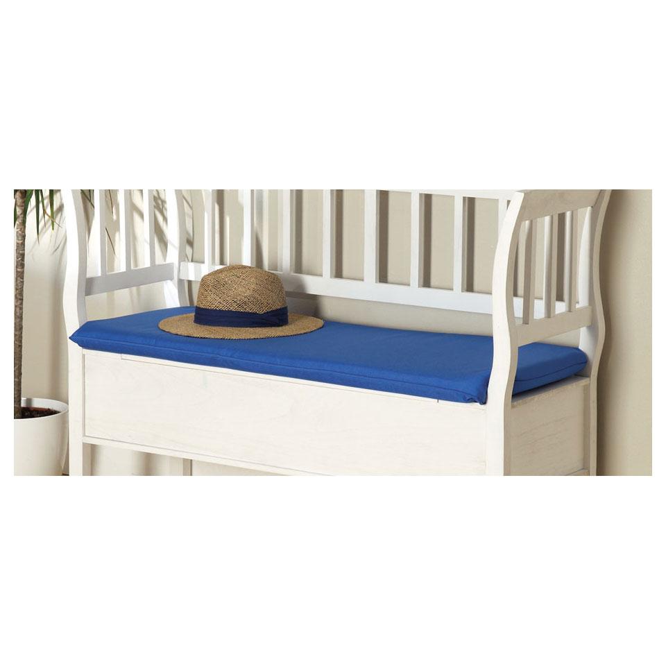 Marlow Blue Bench Cushion