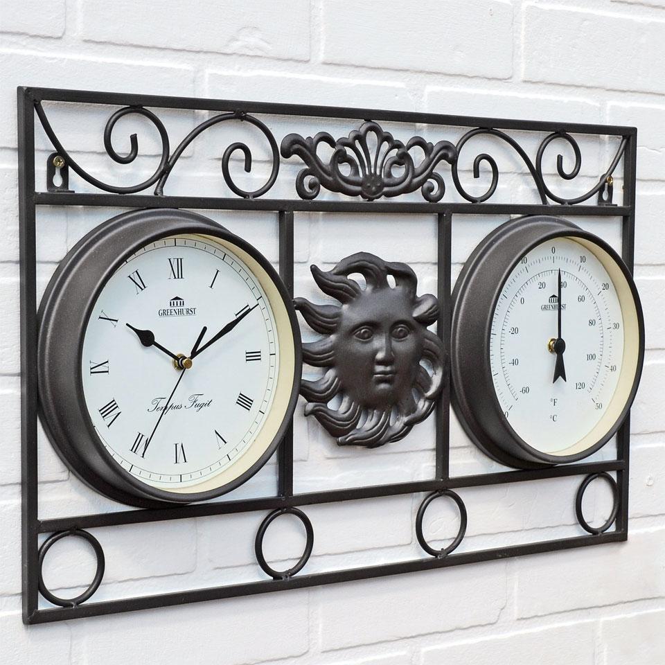 Walllframe Sun Clock & Thermometer