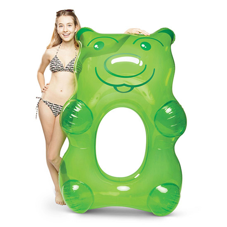 Giant Green Gummy Bear Pool Float