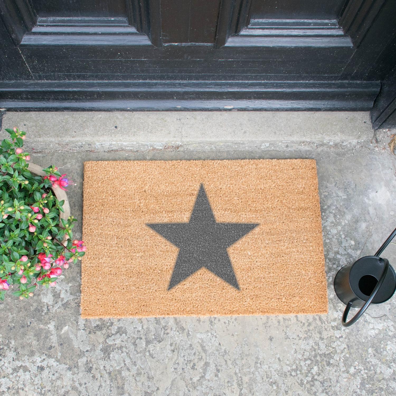 Image of Grey Star Door Mat