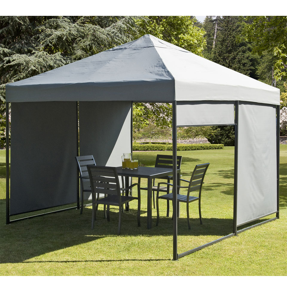 3m Ansdell Gazebo with 4 Pull-Down Blinds