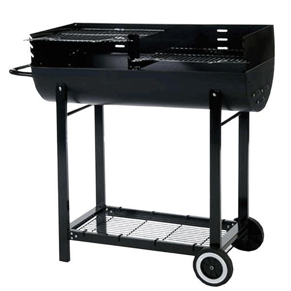 Half Barrel Charcoal Barbecue