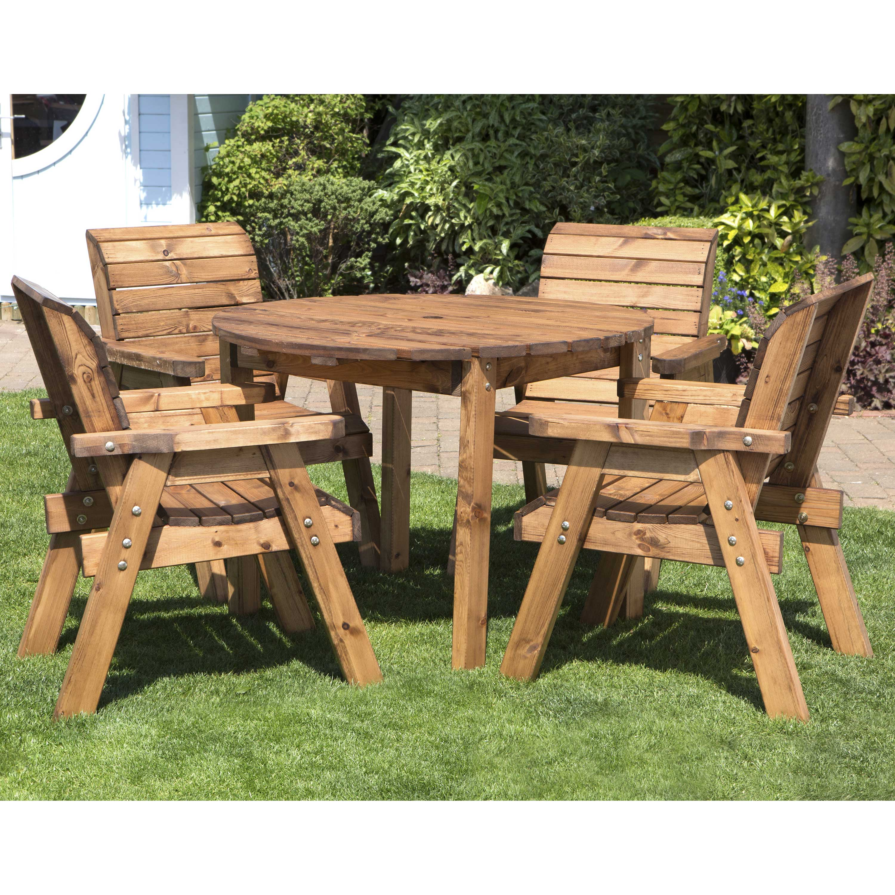 Redwood Collection Four Seater Circular Table Set