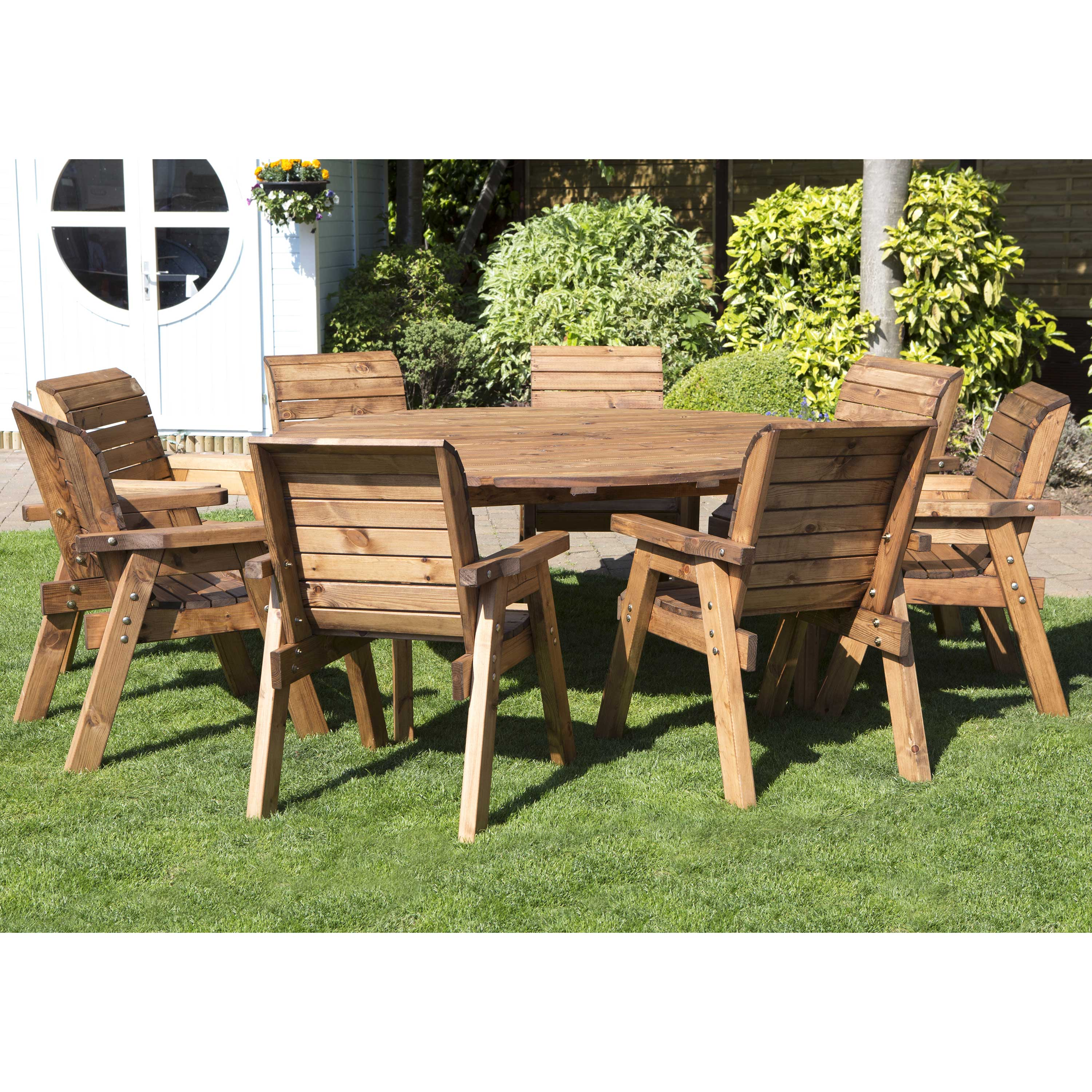 Redwood Collection Eight Seater Circular Table Set