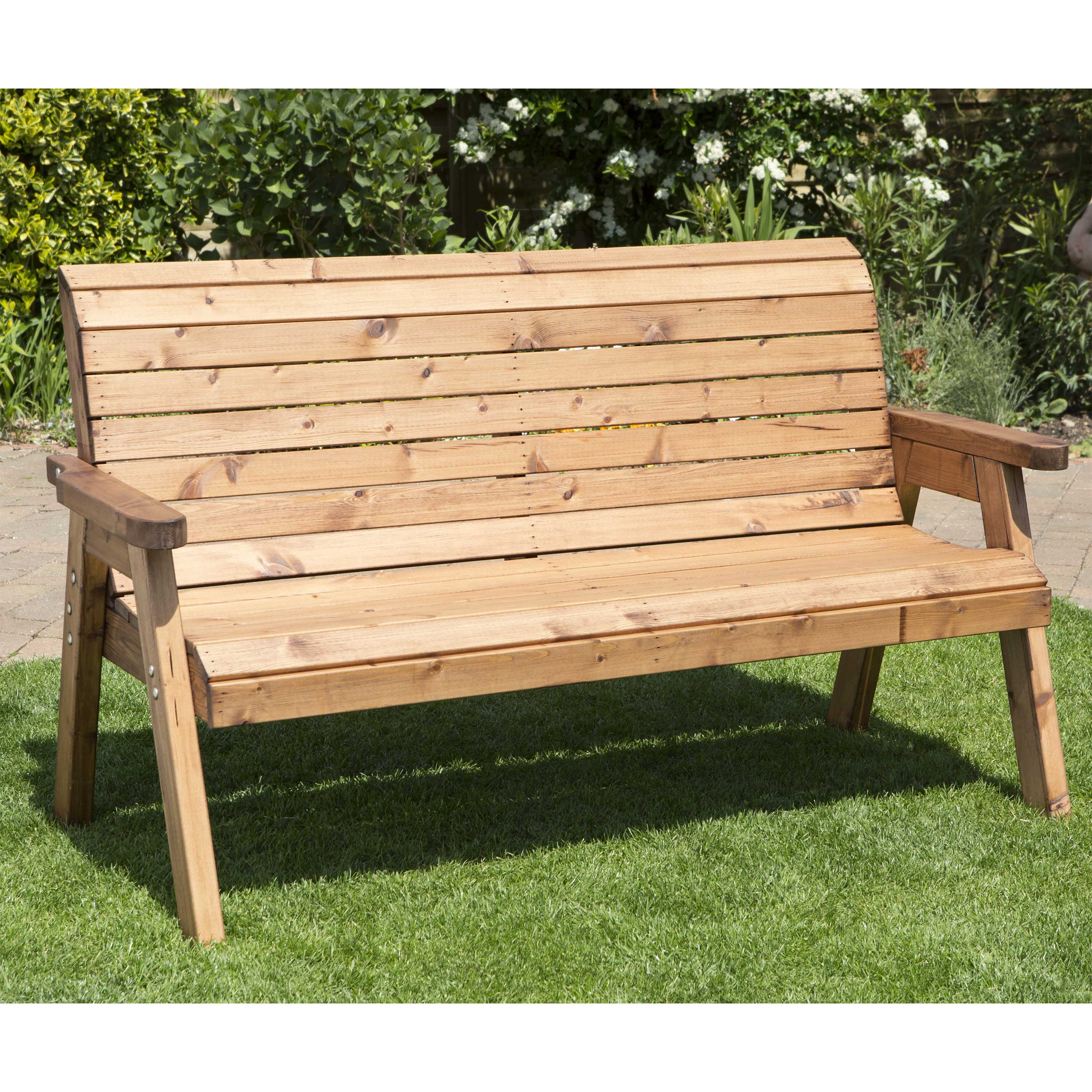 Redwood Collection Traditional Three Seater Bench
