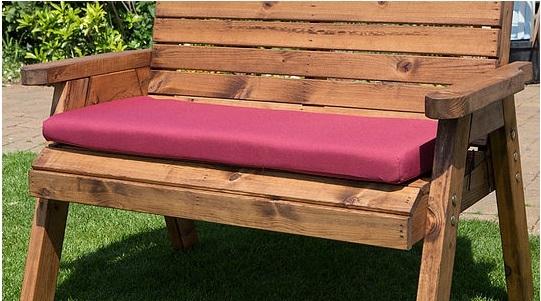 Waterproof Bench Cushion (Burgundy)
