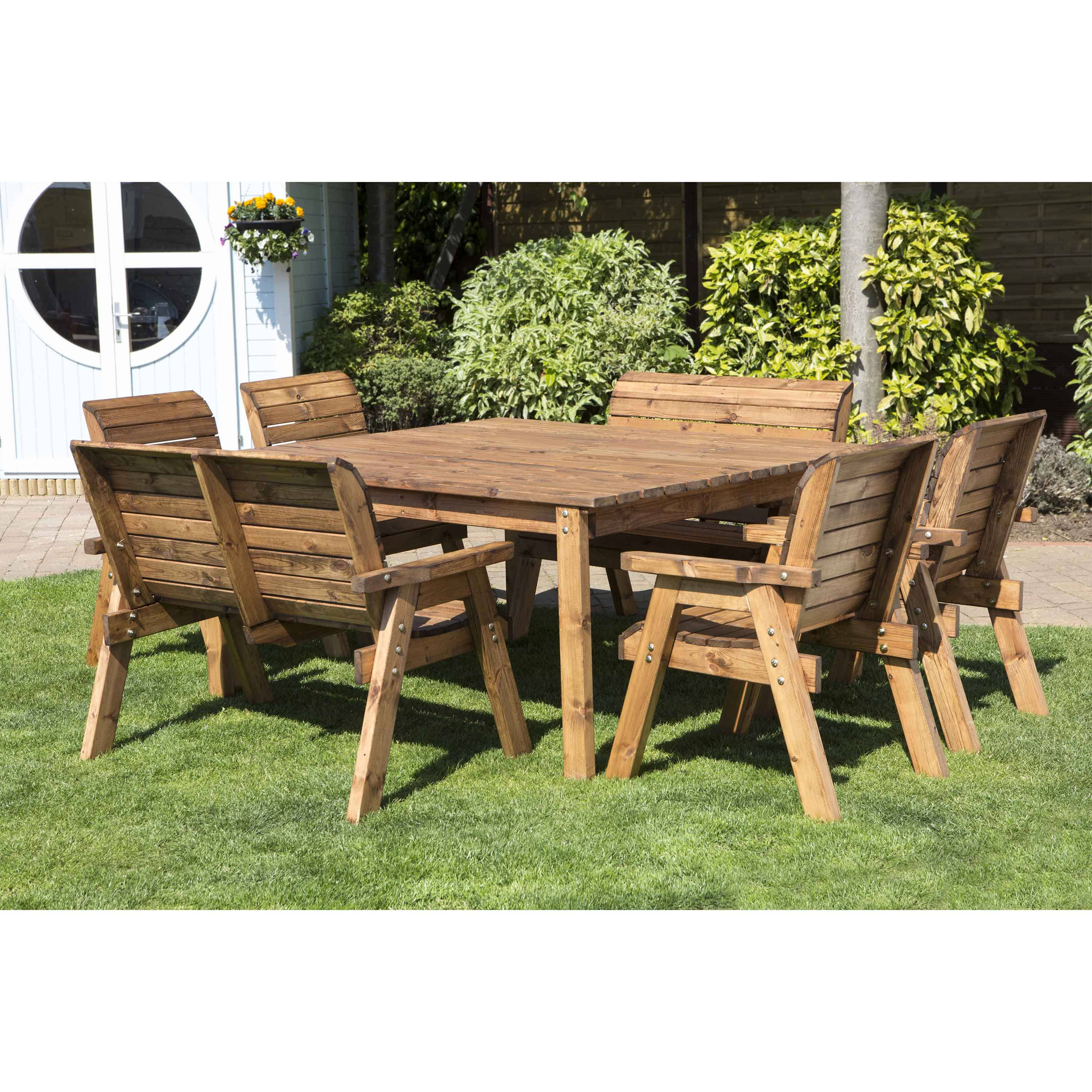 Redwood Collection Eight Seater Deluxe Table Set