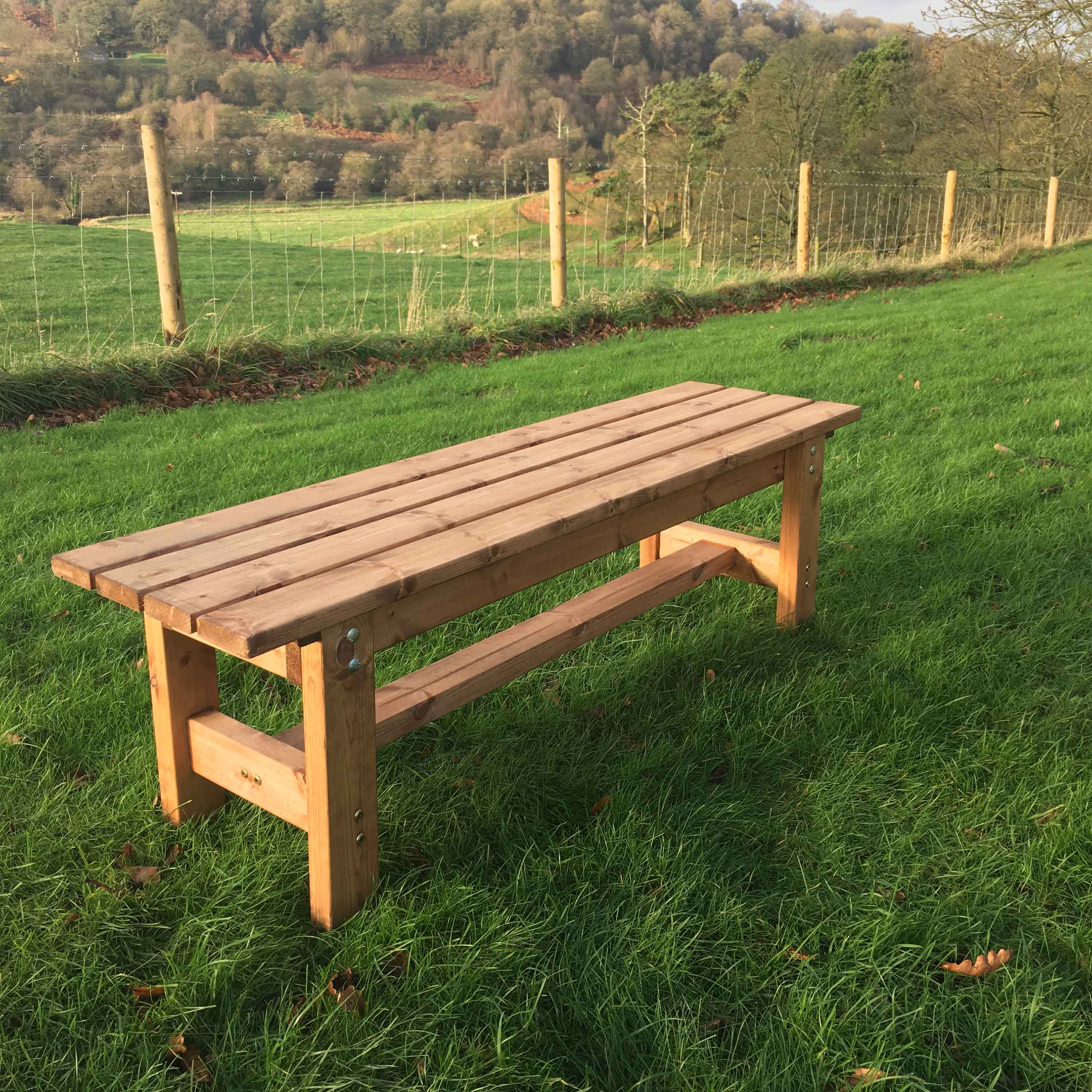Redwood Collection Solid Form Garden Bench
