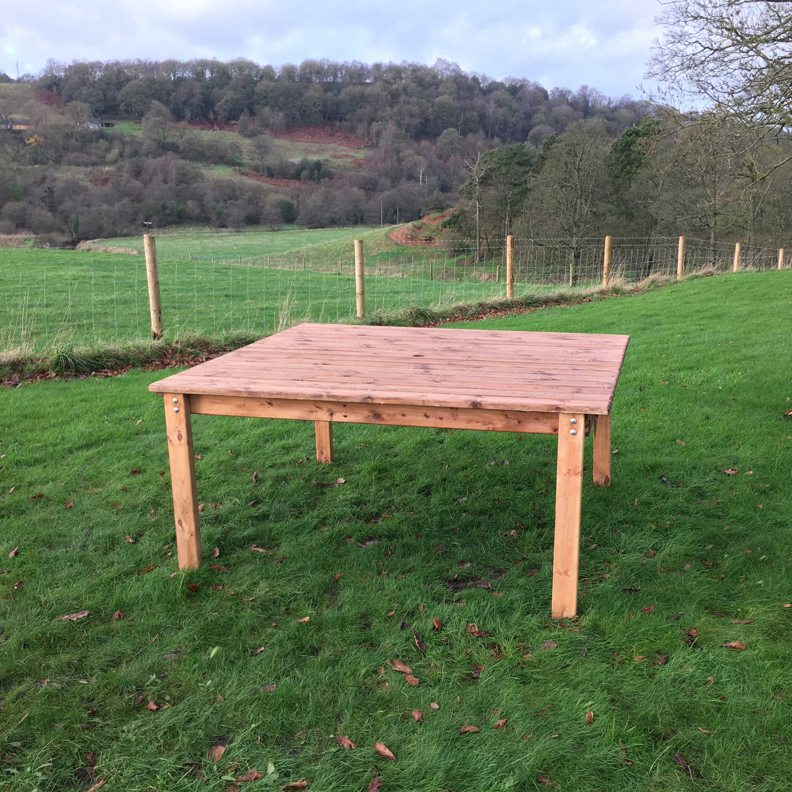 Redwood Collection Large Traditional Dining Table