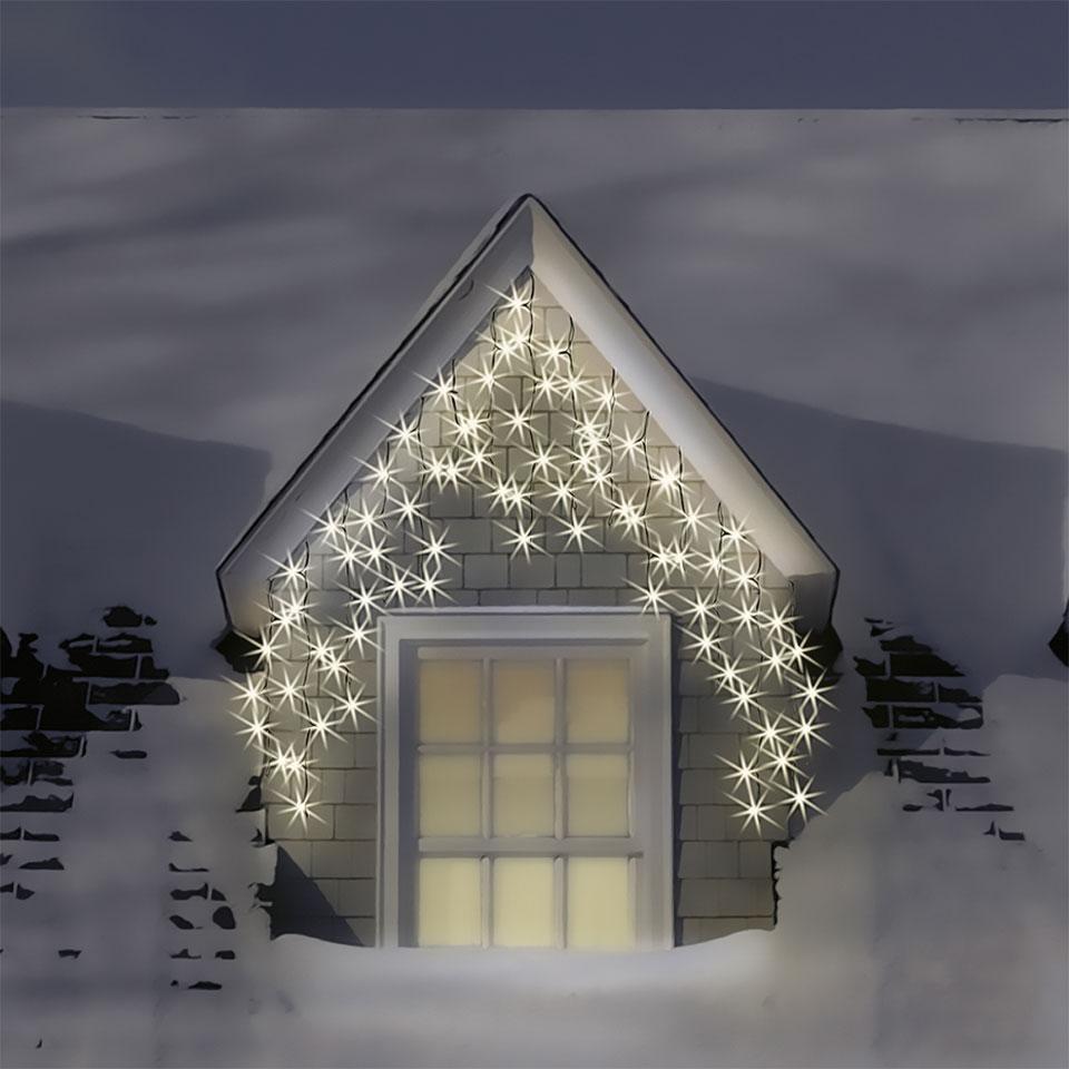 500 Warm & Ice White LED Multi-Function Icicle Lights