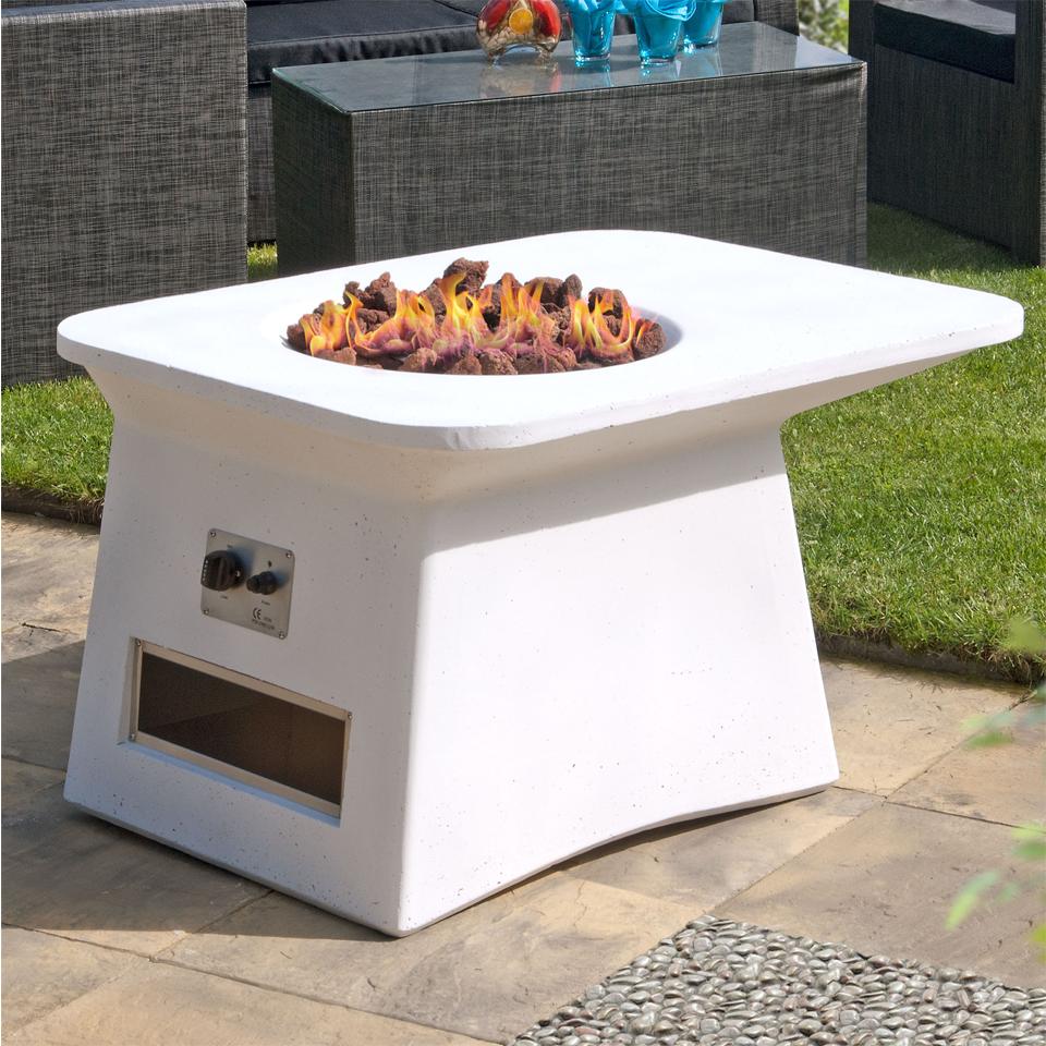 Salamanca White Firepit Table