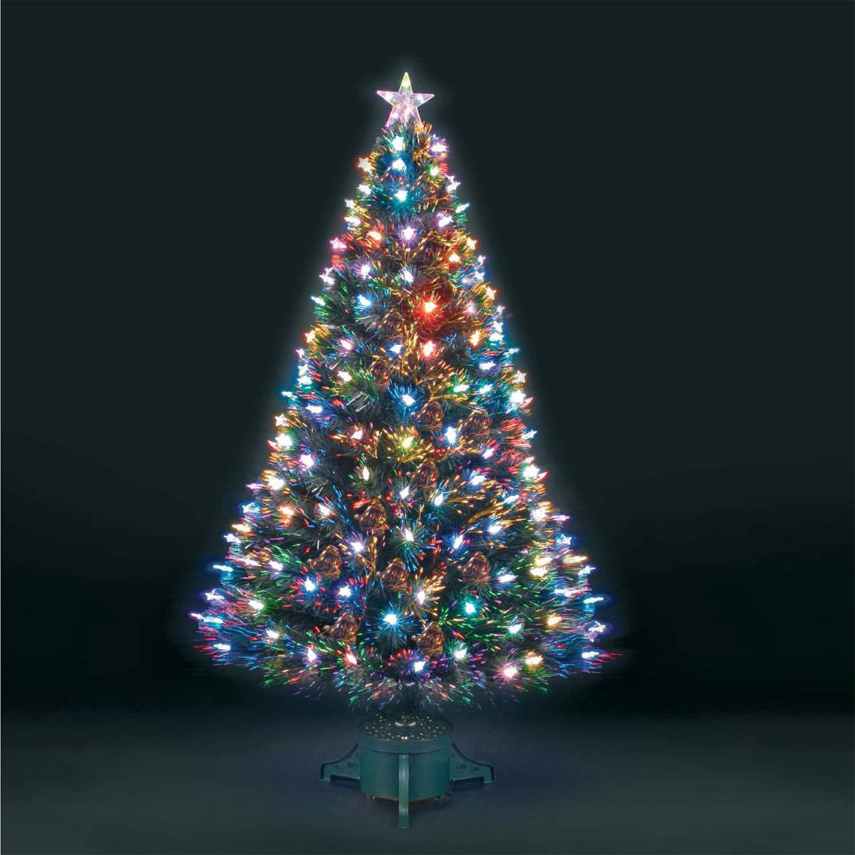 Christmas Tree Fiber Optic Lights: 3ft Superstar Green Fibre Optic & LED Christmas Tree
