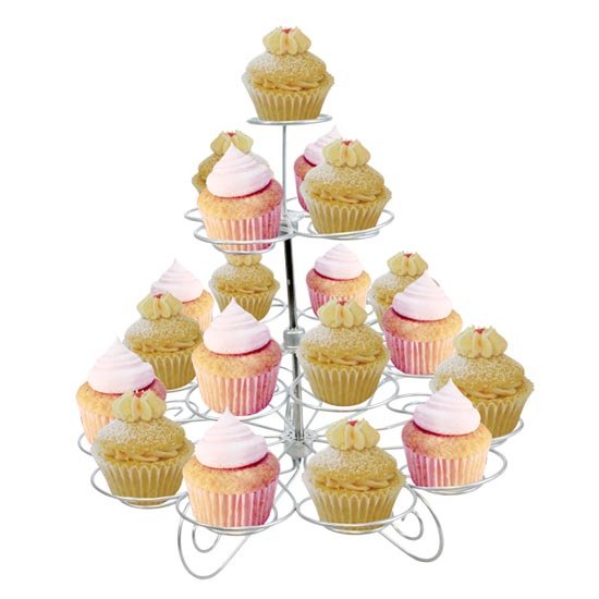 Silver Cupcake Display Stand