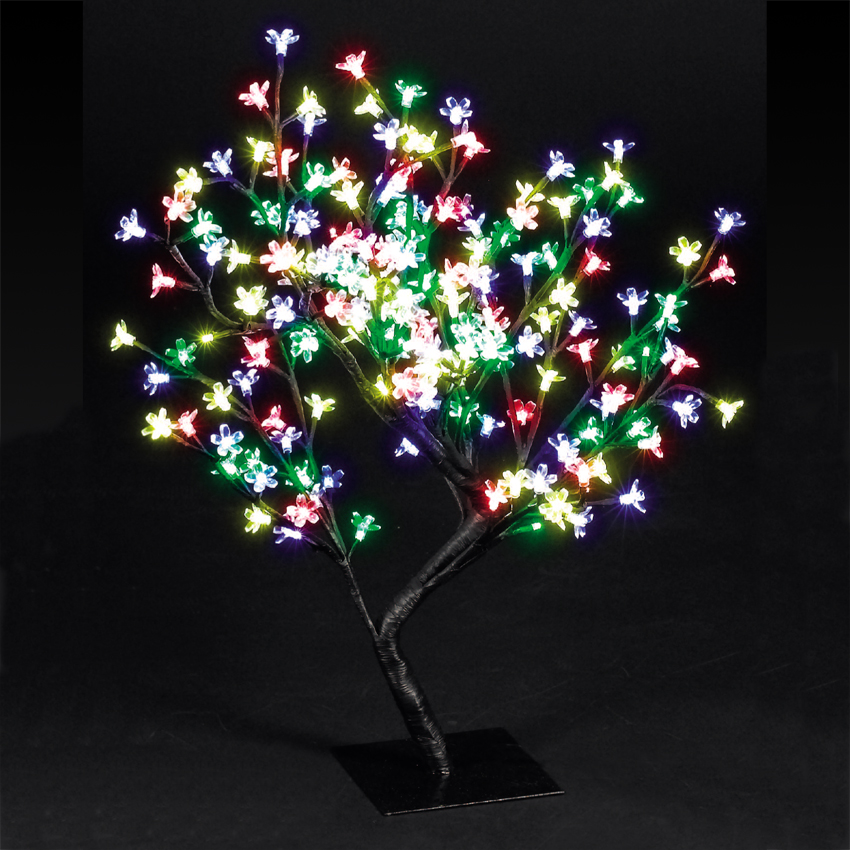 26in/67cm Cherry Blossom Tree with 192 Multi-Coloured LEDs