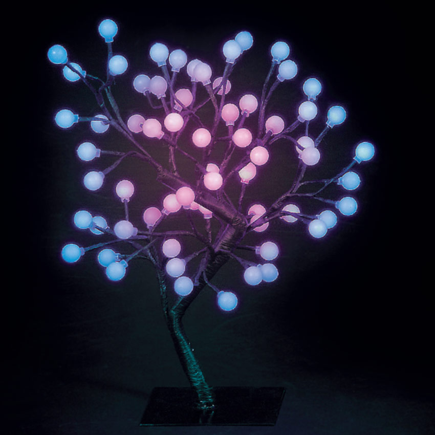 18in/45cm S-Shaped Globe Tree with 64 Colour Changing LEDs