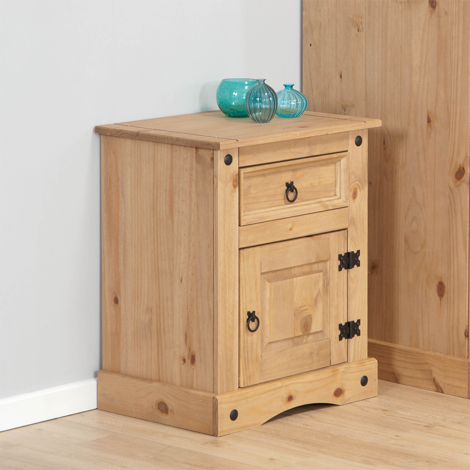 Aztec Corona Mexican Pine Bedside Cabinet