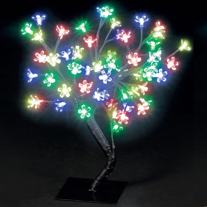 Image of 45cm Cherry Blossom Tree with 64 Multicoloured LEDs