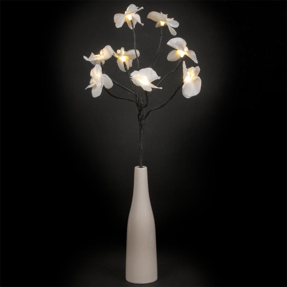 White Orchid 8 Warm White LED Vase Lamp