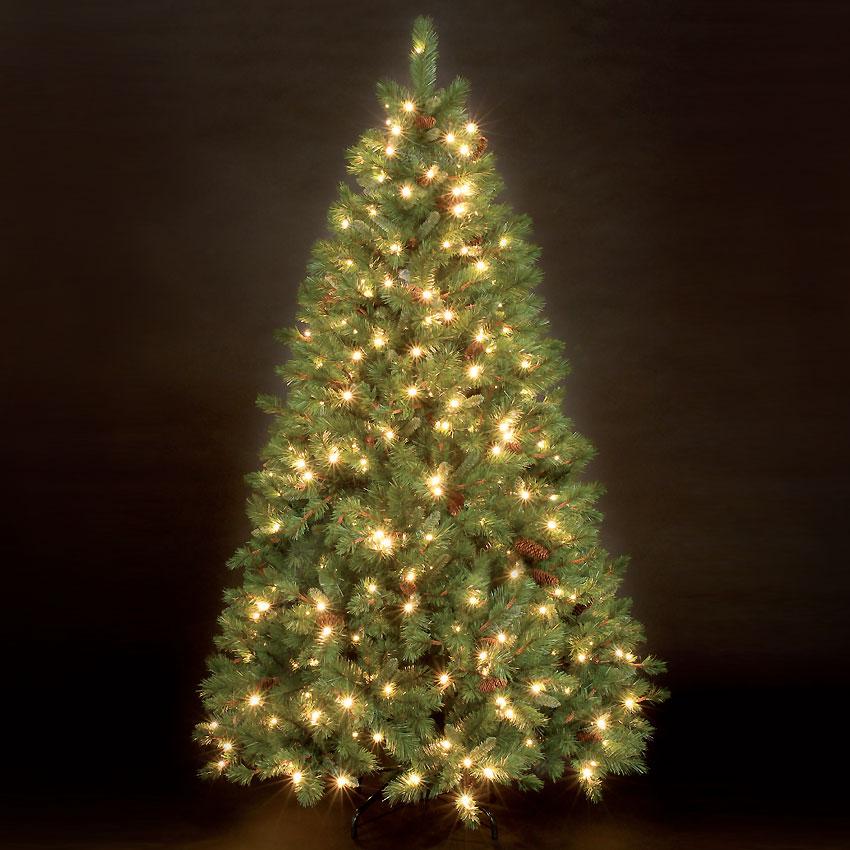 7ft Douglas Pine Pre-Lit Artificial Christmas Tree